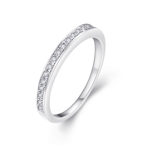 Round Cut Diamond Band with Side Channel