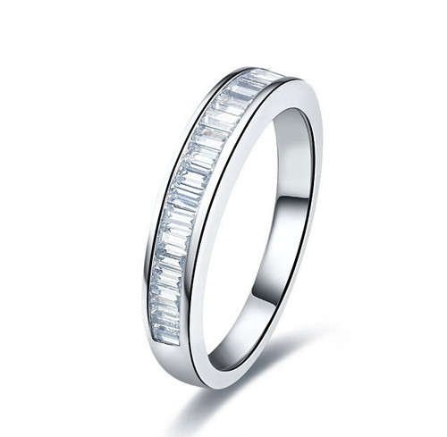Channel Set Baguette Diamond Anniversary Wedding Band CSB482