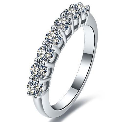 Round Seven Diamond Wedding Anniversary Band RFD632
