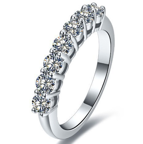 Round Seven Diamond Wedding Anniversary Band RFD632
