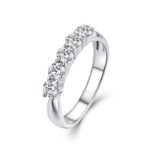 Five Stone Classic Wedding Anniversary Band FSW482