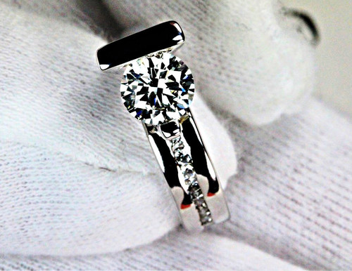 Frank Reubel Antqiue Engagement Ring GIA 1ct SI2 J