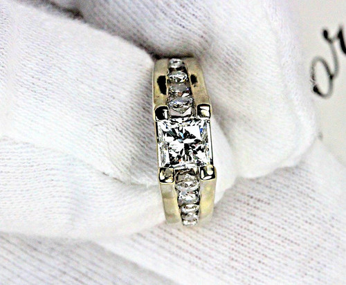 Leo Princess Cut Diamond in 14K Engagement Ring