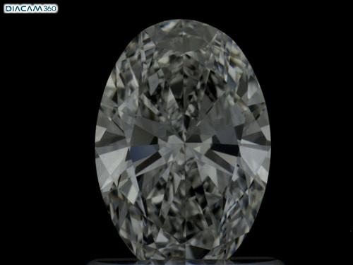 Oval Cut Diamond + 14K White Gold Halo Mounting and matching band