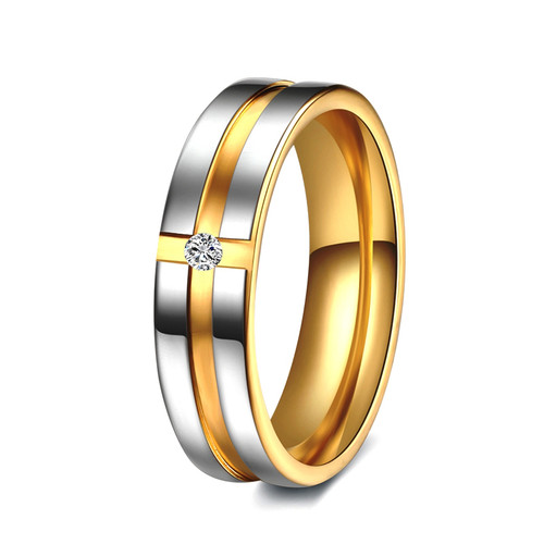 Unique Tow Tone Men's Diamond Wedding Band WBB268 5mm