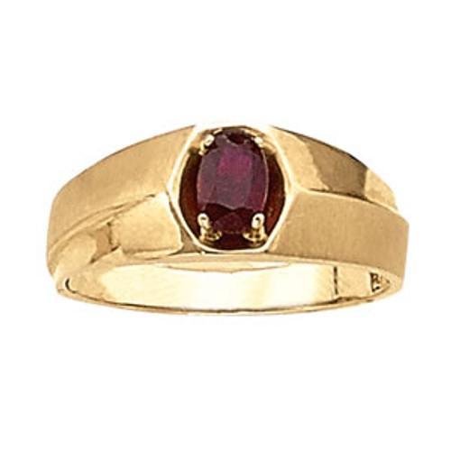 Men's Ruby Ring 7mm G10002