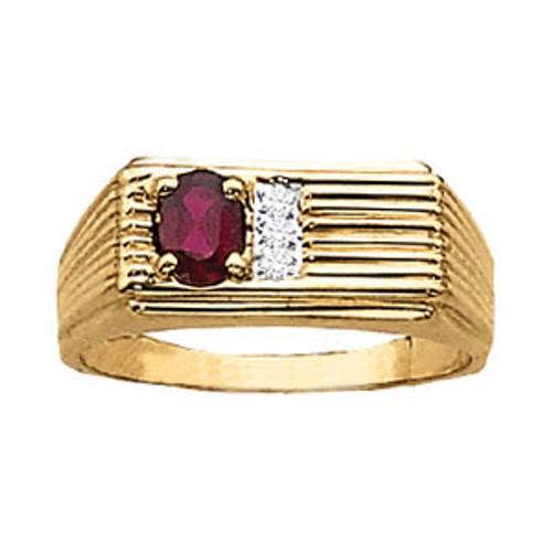 Men's Diamond Ruby Ring M10003