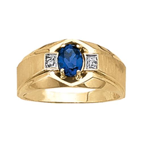 Men's Tanzanite Diamond Ring 7mm G10011