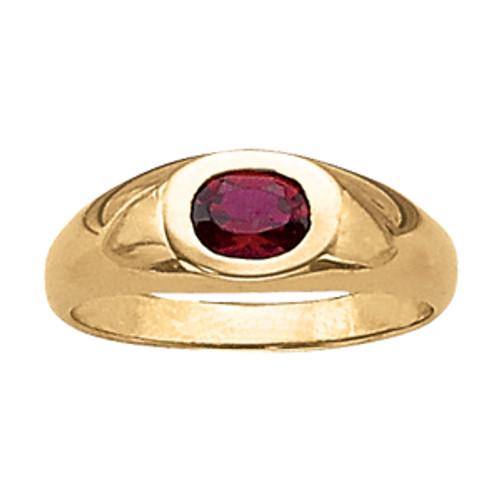 Men's Ruby Ring Bezel Set G100013 6MM