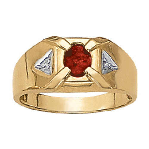 Men's 7mm Ruby Diamond Ring G10013