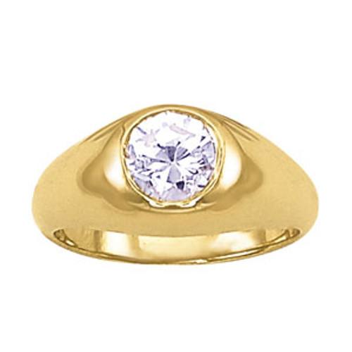 Men's Bezel Diamond Ring 7MM. 1 Carat Diamond M10023