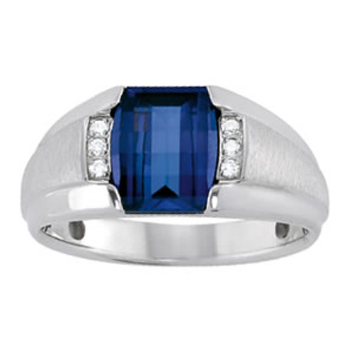 Men's Tanzanite Diamond Ring  7mm T00324