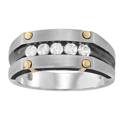 Channel Set Men's Diamond Wedding Band W00392
