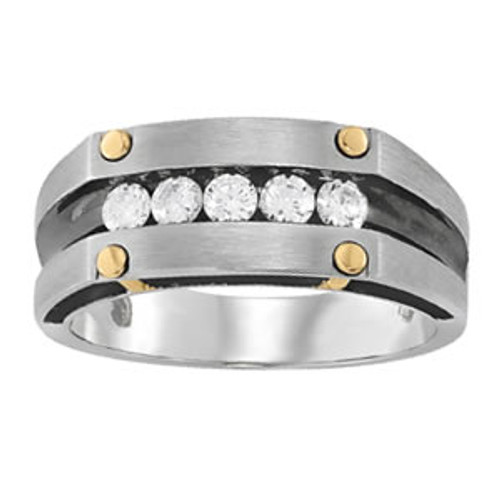 Channel Set Men's Diamond Wedding Band W00392