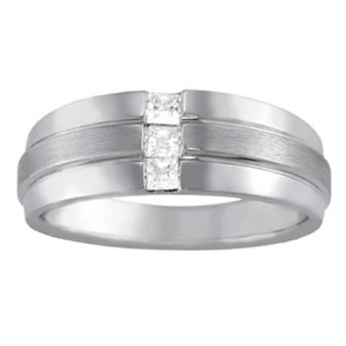 Three Stone Men's Wedding Band W000393