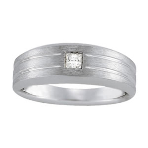 Men's Sqaure Diamond Wedding Band WB00496