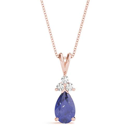 Tanzanite Diamond Pendent AAA+ TZ0041