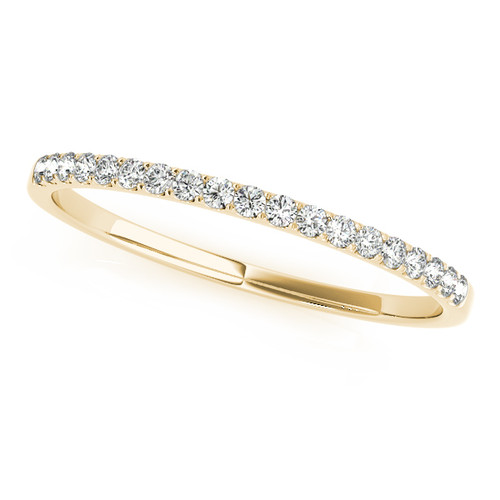 Thin Pave Classic Wedding Band TPC482