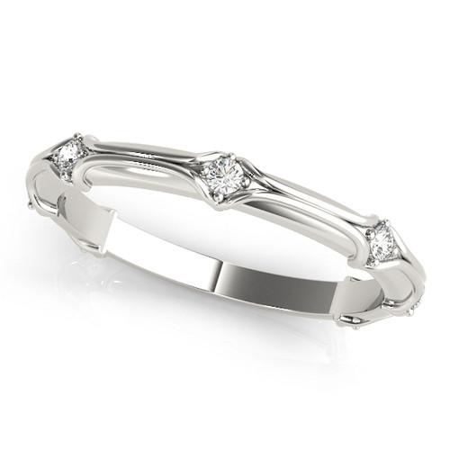 Antique Modern Round Diamond Wedding Band Design AMR482