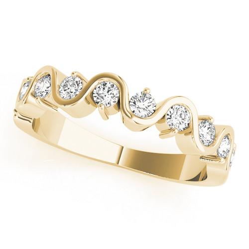 Antique Swirl Round Diamond Wedding Band ASR245