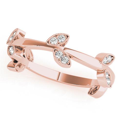 Unique Leaf Design Wedding Annivarsary Ring ULD482