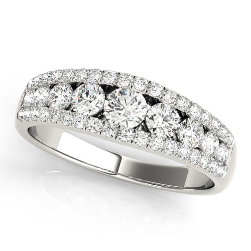 Unique Round Diamond Wedding Band URD245