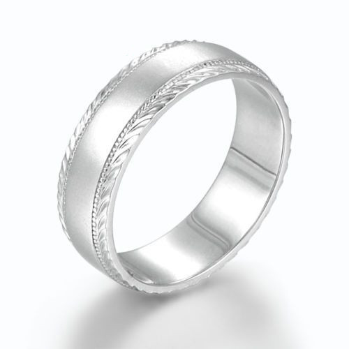 Men's Satin Brushed Finished Wedding Band WB00494