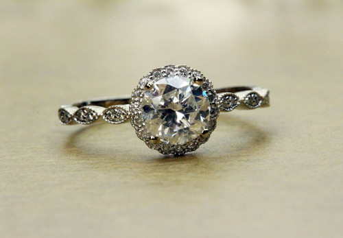 Vintage style engagement ring