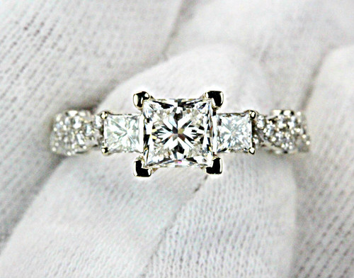 Unique Princess cut Diamond GIA Certified Diamond G VS2