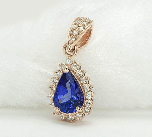 Blue Tanzanite Diamond Pendant BTD0392
