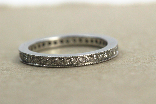 Platinum Diamond Eternity Band Size 4.5