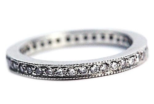 Platinum Diamond Eternity Band Size 4.5