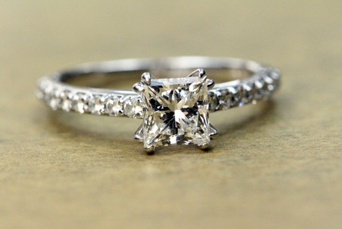 Unique Princess Cut Diamond Engagement Ring