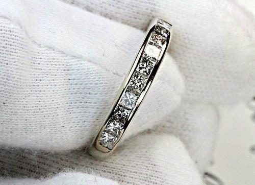 Princess Cut Diamond Anniversary Band - White Gold 1 Carat