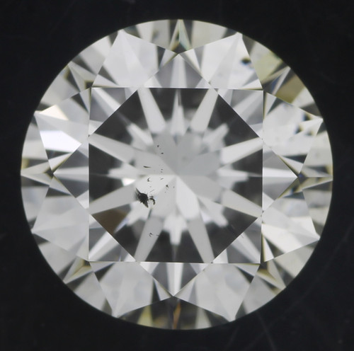 GIA round 1.12 GI SI1 3x hearts and arrows cut diamond