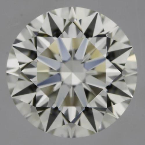 GIA Round 1.31 H VVS 3X Hearts and Arrows Cut Diamond
