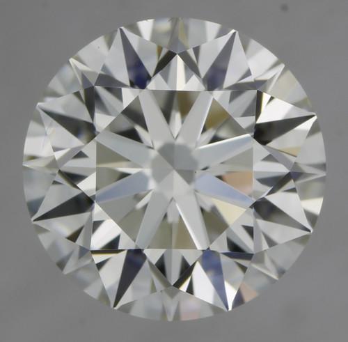 GIA Round 1.26ct F VVS2 3X Hearts and Arrows Cut Diamond