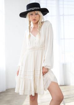 Textured Paisley Jacquard Mini Dress