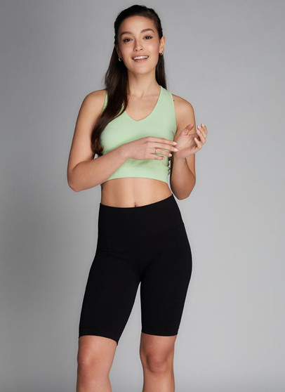 Rib High Waisted Bike Shorts