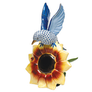 Bluebird on Sunflower