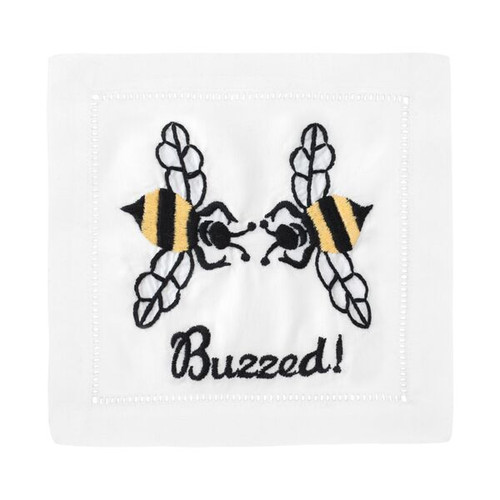 August Morgan Set of 4 Cocktail Napkins   Buzzed