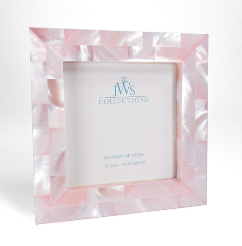 Pink Mother of Pearl Frame | 3.5x3.5