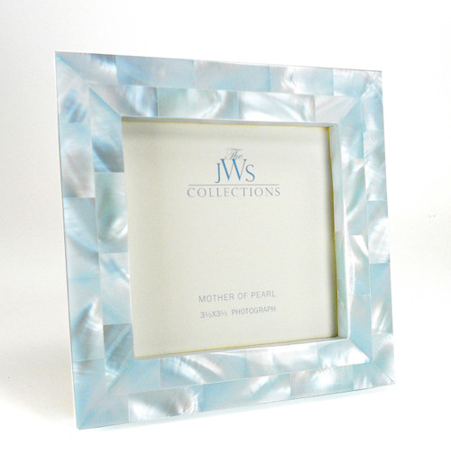 Blue Mother Of Pearl Frame Perfect For Gift Wedding Registry