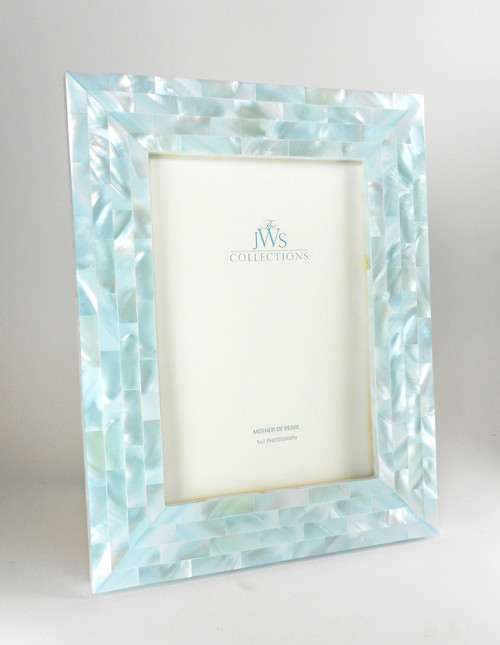 Blue Mother of Pearl Frame | 5x7