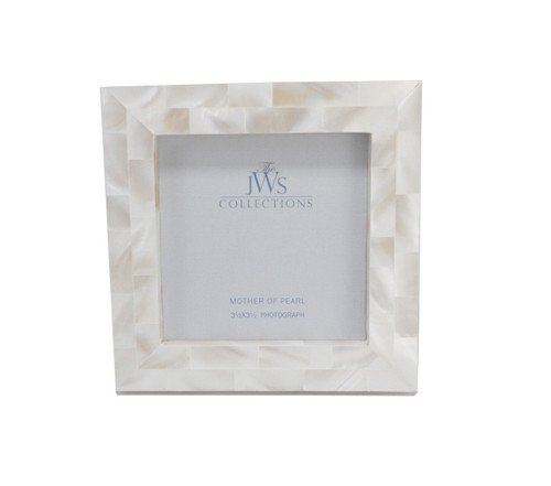 White Mother of Pearl Frame | 3.5x3.5
