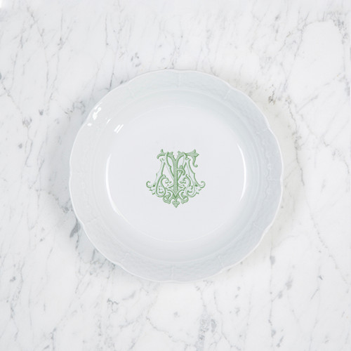 Mary-Foster Gift Registry Weave Monogrammed Cereal Bowl