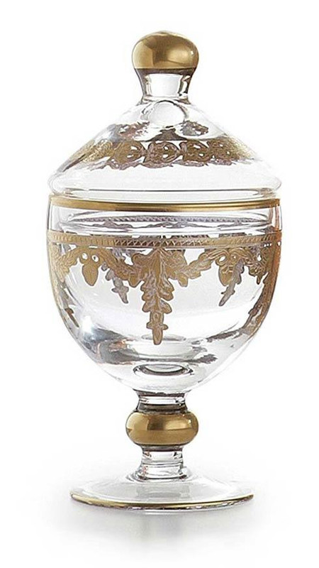 Baroque Gold Small Canister