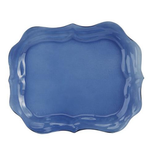 Burano Glass Large Blue Tray