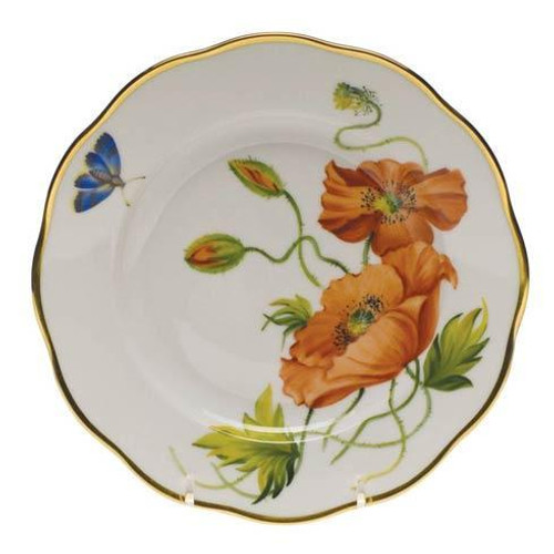American Wildflowers California Poppy Salad Plate