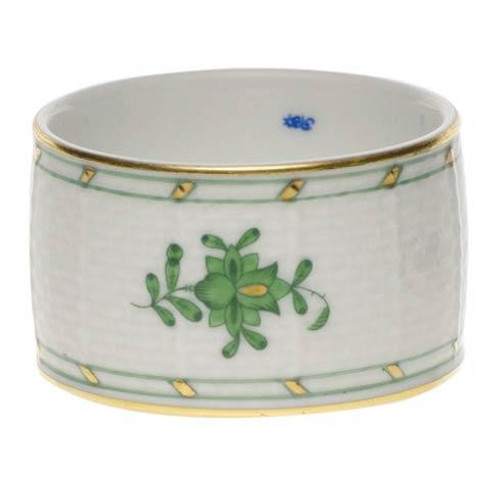 Chinese Bouquet Green Napkin Ring